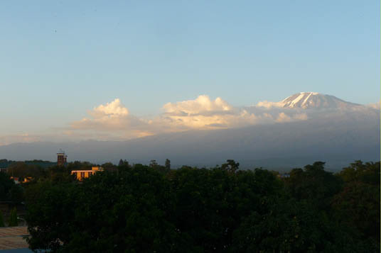Kilimanjaro seen from Moshi